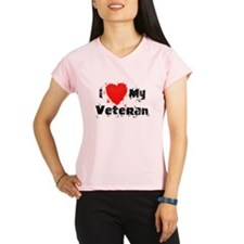 I <3 My Veteran Performance Dry T-Shirt