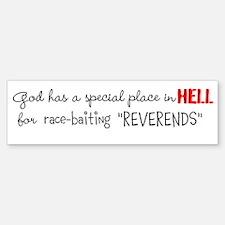 race-baiters in hell Sticker (Bumper)