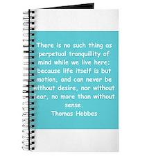 thomas hobbes Journal