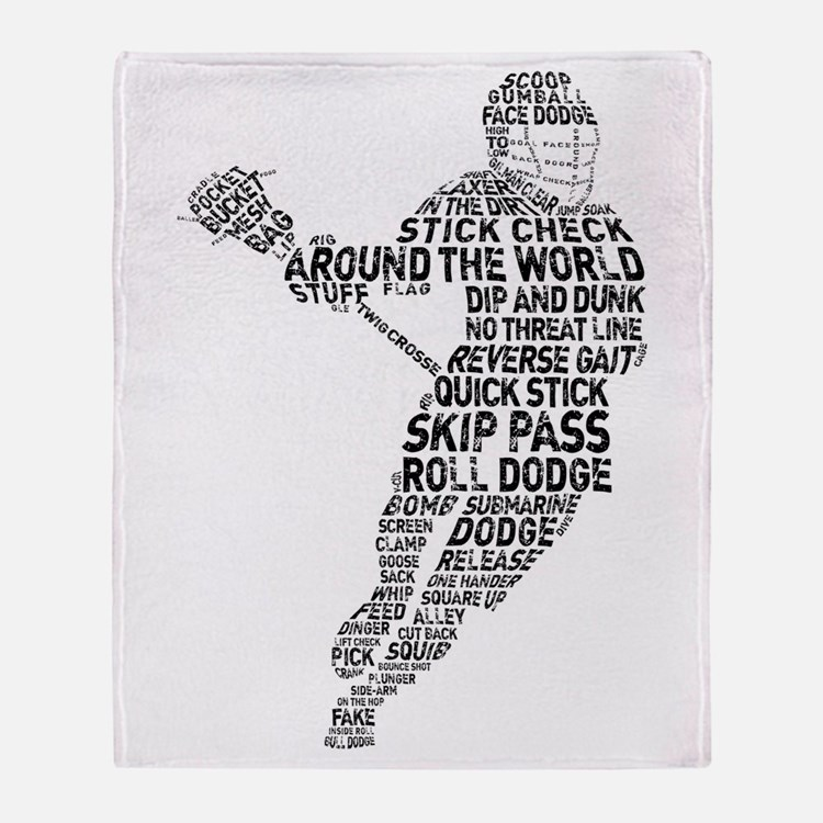 Lacrosse LAX Player Throw Blanket