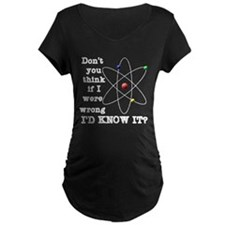 dont_you_think_white_letter Maternity T-Shirt