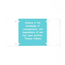 thomas hobbes Aluminum License Plate