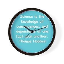 thomas hobbes Wall Clock