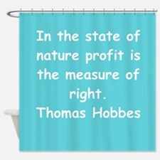thomas hobbes Shower Curtain