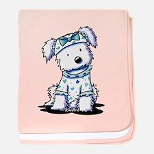 Cutie Face Maltese baby blanket