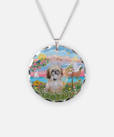 AngelStar-ShihTzu 17 Necklace Circle Charm