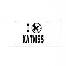 Hunger Games I Love Katniss Aluminum License Plate