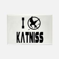 Hunger Games I Love Katniss Rectangle Magnet