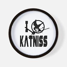 Hunger Games I Love Katniss Wall Clock
