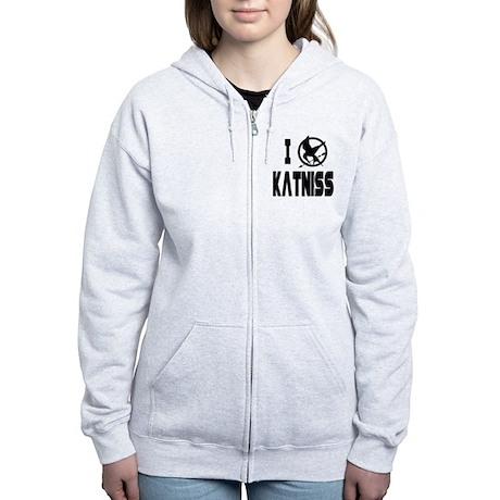 Hunger Games I Love Katniss Women's Zip Hoodie