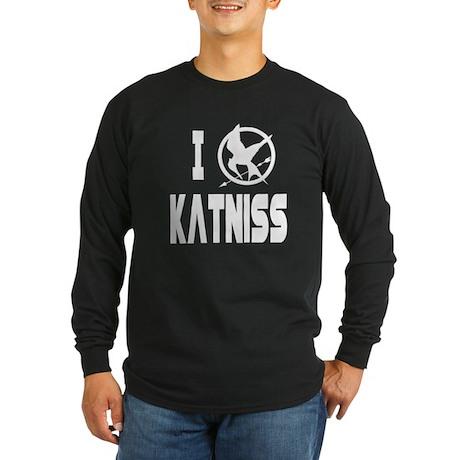 Hunger Games I Love Katniss Long Sleeve Dark T-Shi