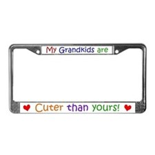 My Grandkids Are Cuter License Plate Frame
