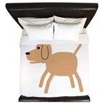 Dog design King Duvet