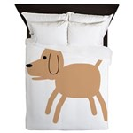 Dog design Queen Duvet