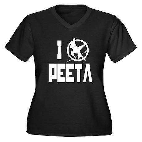 I Love Peeta Hunger Games Women's Plus Size V-Neck