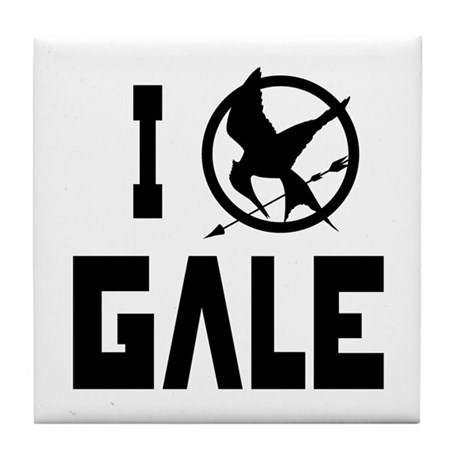 I Love Gale Hunger Games Tile Coaster