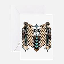 Native American Breastplate - Greeting Card