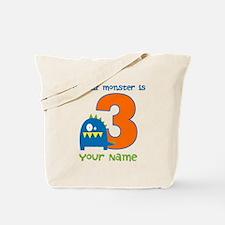 3rd Birthday Monster Tote Bag