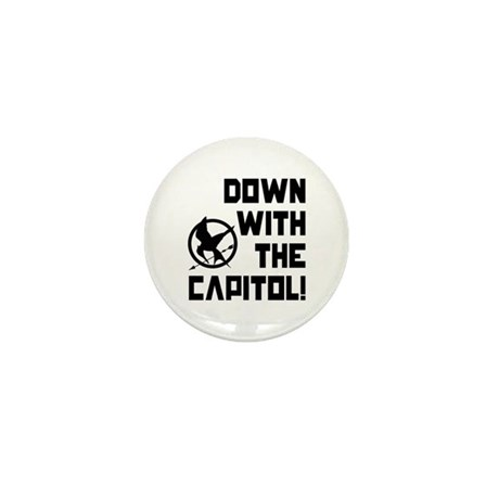 Down With The Capitol! The Hunger Games Mini Butto