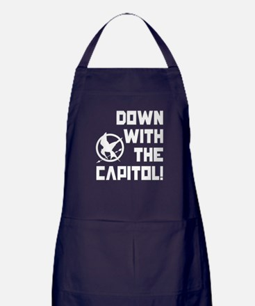 Down With The Capitol! The Hunger Games Apron (dar