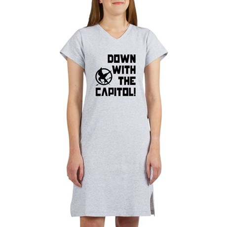 Down With The Capitol! The Hunger Games Women's Ni