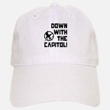 Down With The Baseball Baseball Capitol! The Hunger Games Baseball Baseball Cap