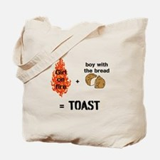 Katniss and Peeta Toast Tote Bag