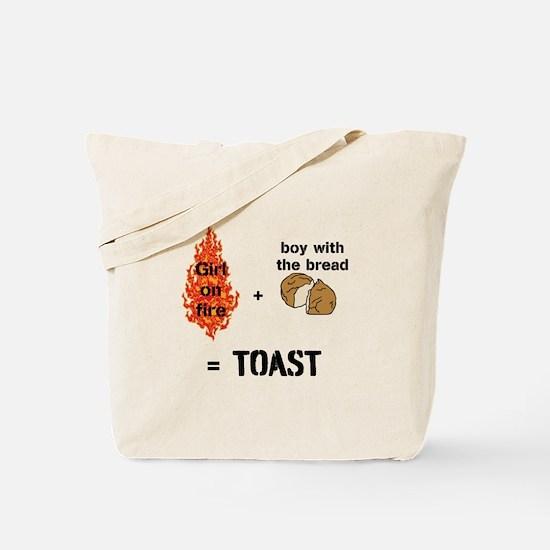 Katniss and Peeta Toast Tote Bag