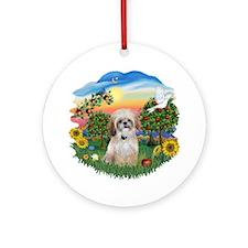 Bright Country-ShihTzu #17 Ornament (Round)