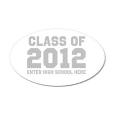 2012 Graduation 22x14 Oval Wall Peel