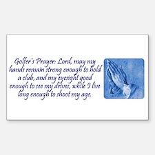 Golfer's Prayer Rectangle Decal
