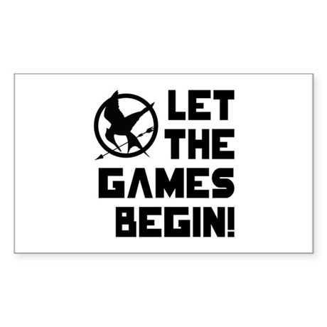 Let The Games Begin! The Hunger Games Sticker (Rec