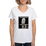 I am not amused. Women's V-Neck T-Shirt