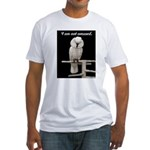 I am not amused. Fitted T-Shirt