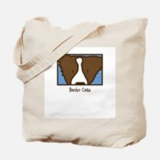 Anime Brown Border Collie Tote Bag