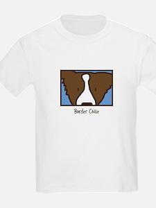 Anime Brown Border Collie T-Shirt