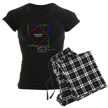 Pythagorean Theorem Proof Women's Dark Pajamas