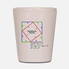 Pythagorean Theorem Proof Shot Glass