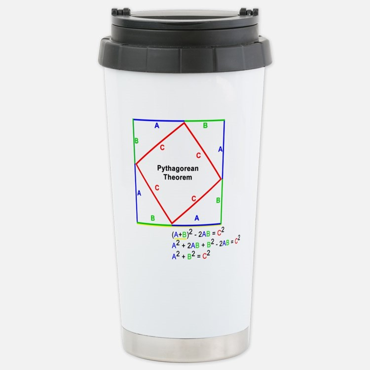 Pythagorean Theorem Proof Stainless Steel Travel M