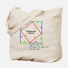 Pythagorean Theorem Proof Tote Bag