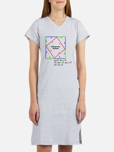 Pythagorean Theorem Proof Women's Nightshirt