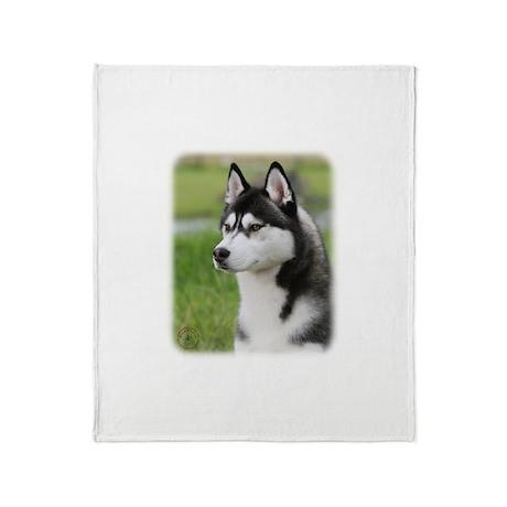 Siberian Husky 9y570d 006 Throw Blanket By Traffordphotos