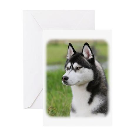 Siberian Husky 9Y570D-006 Greeting Card