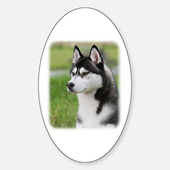 Siberian Husky 9Y570D-006 Sticker (Oval)