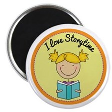 "Storytime Stick Figure Reading Kids 2.25"" Magnet ("