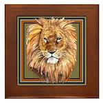 African Animals Framed Tile