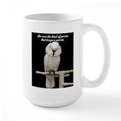 keeps a parrot/ cockatoo Mug