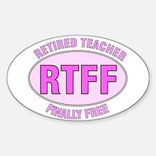 Retired Teacher IV Sticker (Oval)