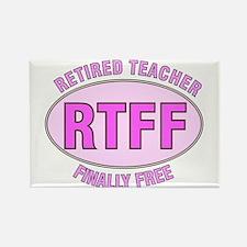 Retired Teacher IV Rectangle Magnet