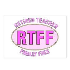 Retired Teacher IV Postcards (Package of 8)